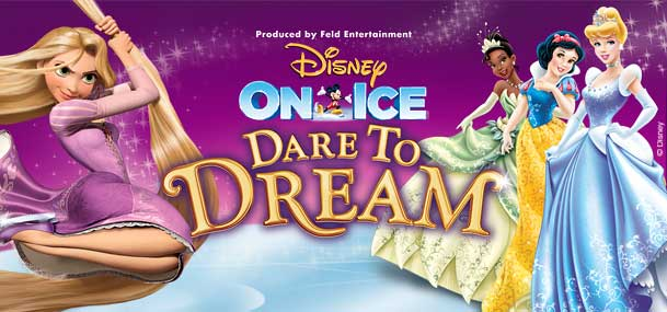Believe in what's possible as five Disney Princesses spark the courage inside us all in Disney On Ice presents Dare To Dream! In her Disney On Ice debut, see how far Moana will go in an action-packed adventure with demigod, Maui, to save her island and discover her true identity.