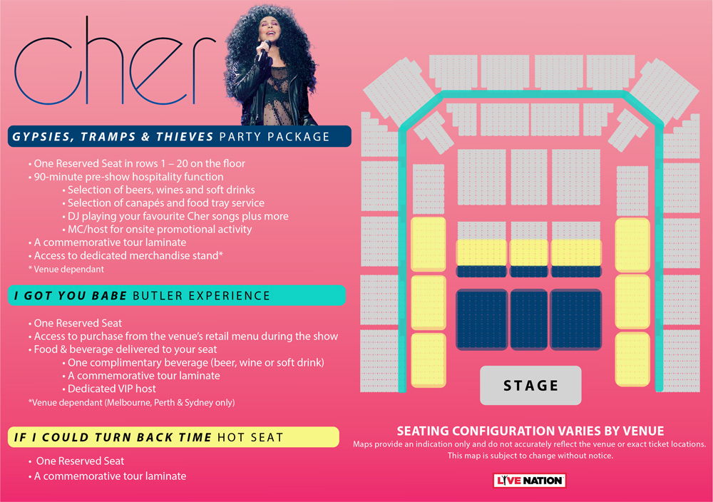 CHER - Here We Go Again! Tickets | Official Ticketek tickets, tour