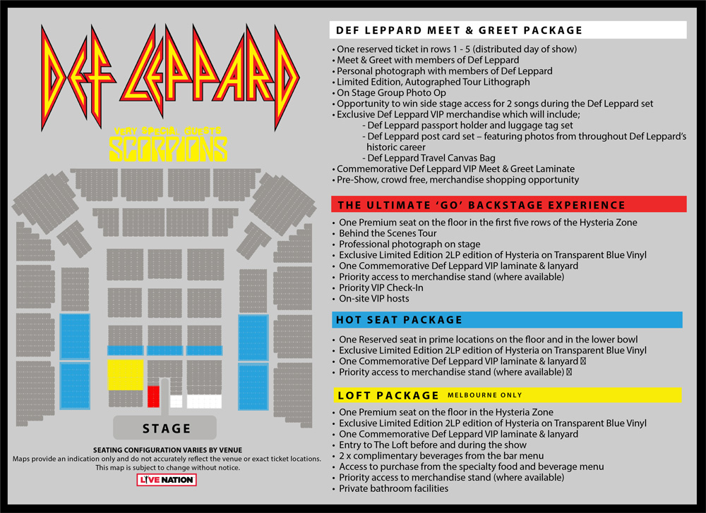 Def Leppard Tickets Official Ticketek Tickets Tour And